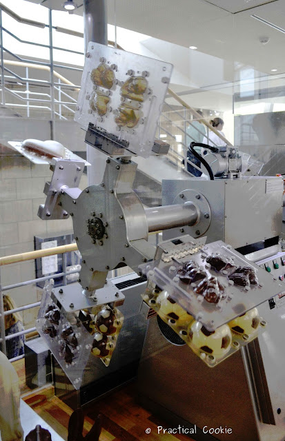 Learning how hollow chocolate figurines are made in the Lindt Chocolate Museum