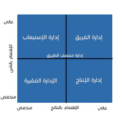 الشكل 1 - شبكة بليك موتون الإدارية - بيزنس بالمصرى