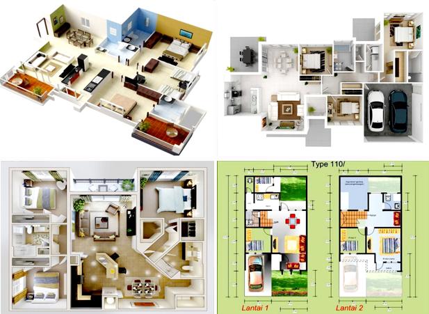 Desain Rumah Minimalis 3 Kamar Tidur