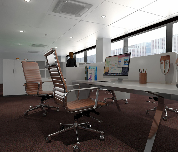 Office design: free Sketchup scene - FREE STUFFS FOR