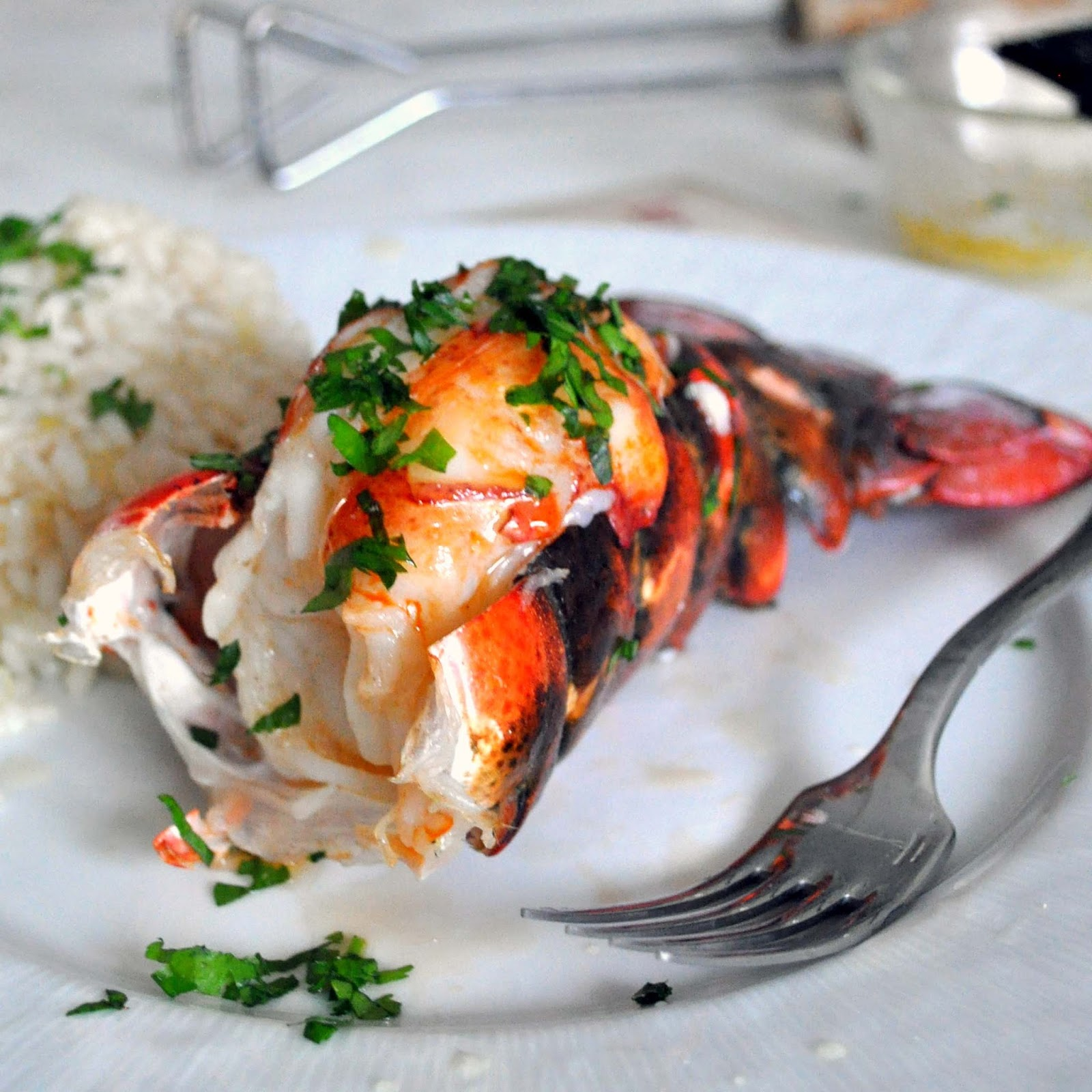 Cooking with Manuela: Grilled Lobster Tail with White Wine Risotto