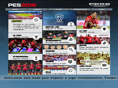 PES 6 ProEvo Colombia Season 2017/2018