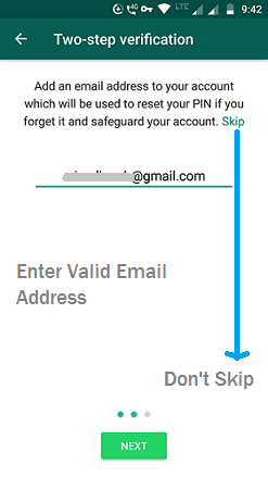 Enter Valid Email address