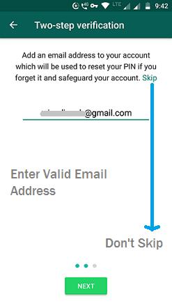 Enter Valid Email address
