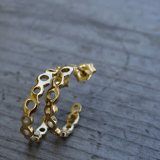 recycled gold earrings