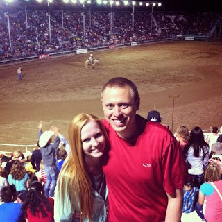 Adam and Elizabeth Morgan at the Ute Stampede Rodeo in Nephi Utah.