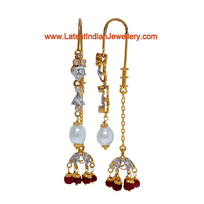Needle Thread Jhumki Earrings