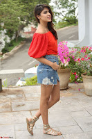 Rhea Chakraborty in Red Crop Top and Denim Shorts Spicy Pics ~  Exclusive 119.JPG