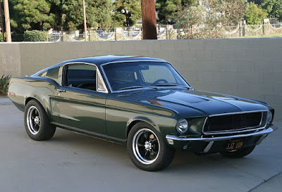 1968 Green Mustang Bullit Fastback Front Right