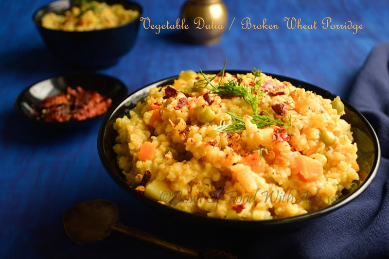 Vegetable Dalia Recipe | How to Make One Pot Meal Broken Wheat Porridge / Vegetable Dalia