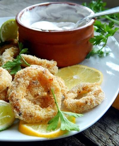 Baked Calamari Rings