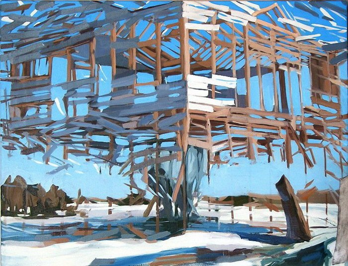 Jaw-Dropping Exploded Structures in the Paintings of Ben Grasso