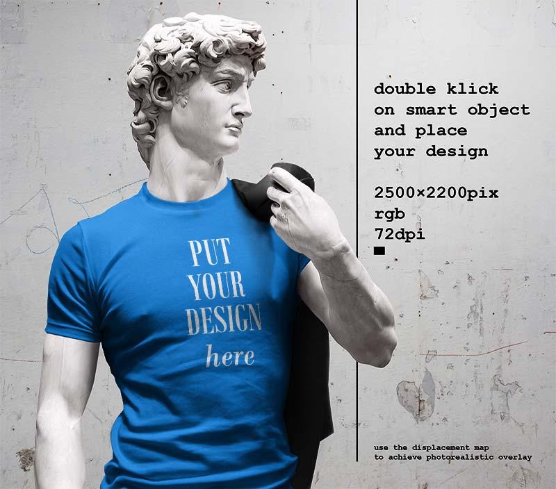 Man Tshirt Mockup PSD