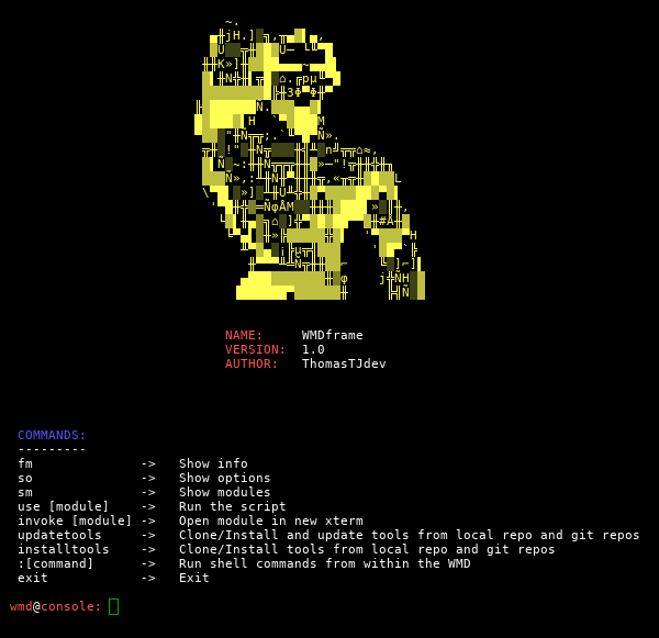 WMD (Weapon of Mass Destruction) - Python framework for IT security