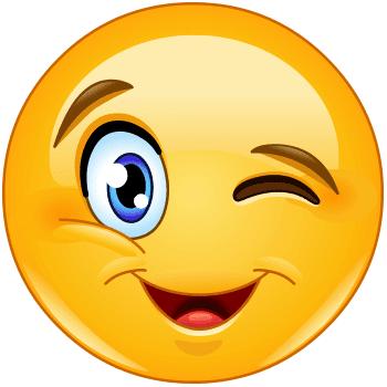 Big wink emoji
