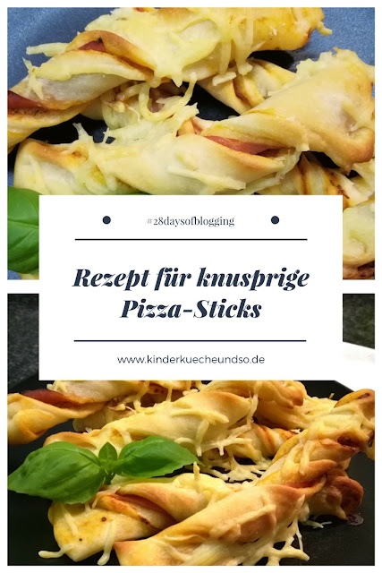 knusprige Pizza-Sticks