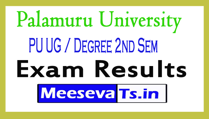Palamuru University PU UG / Degree 2nd Sem Exam Results