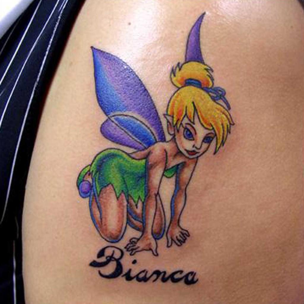 beautiful tinkerbell fairy tattoo design 1024x1024