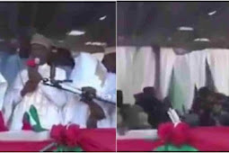 Video: Moment Stage Collapses During PDP Campaign Rally In Kebbi State