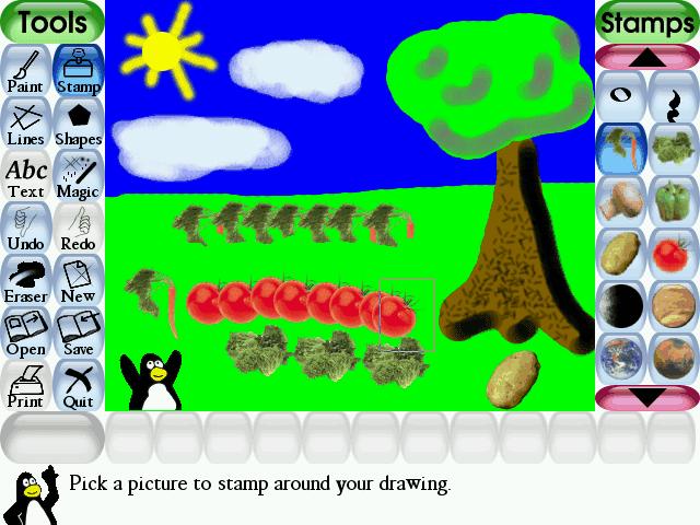 Tux Paint 0.9.22 - Καταπληκτικό πρόγραμμα ζωγραφικής για παιδιά