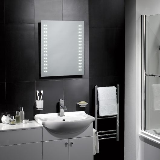 Pebble Grey illuminated mirror