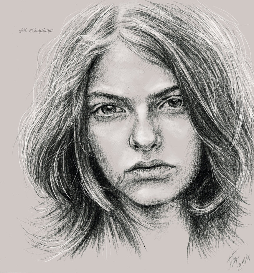 11-Sandro-Lohmann-Tatyana-Buyskaya-Duh22-Pencil-and-Charcoal-Portrait-Drawings-www-designstack-co
