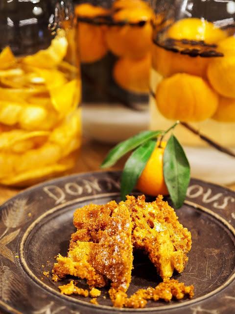 mandarijnenlikeur en honeycomb