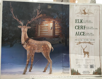 Decorate your home this holiday season with the Elk with 200 LED Lights