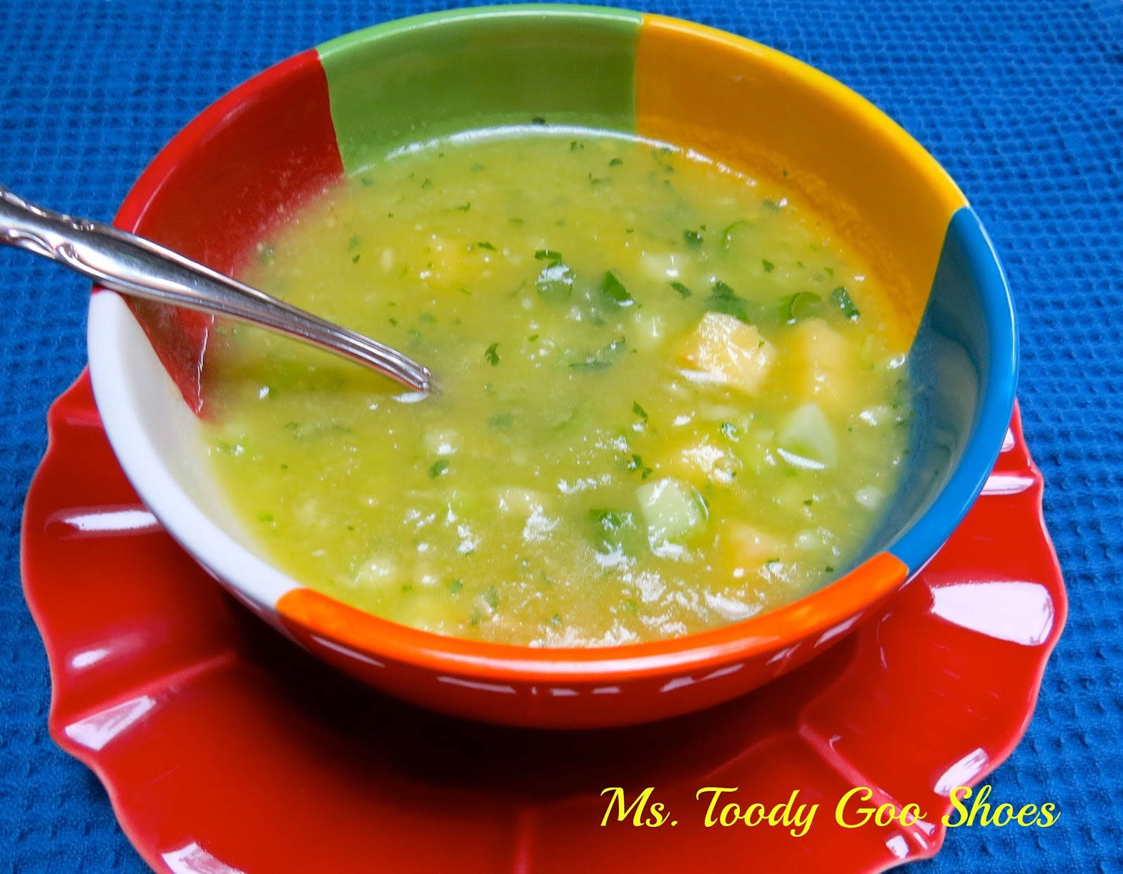 "I'd Rather Do Anything But Cook"" Pineapple Cucumber Gazpacho by Ms. Toody Goo Shoes"