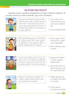 3. Sınıf İngilizce Ders Kitabı Cevapları Monopol Yayınları Sayfa 103