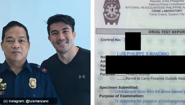 Luis Manzano claims POSITIVE after drug test