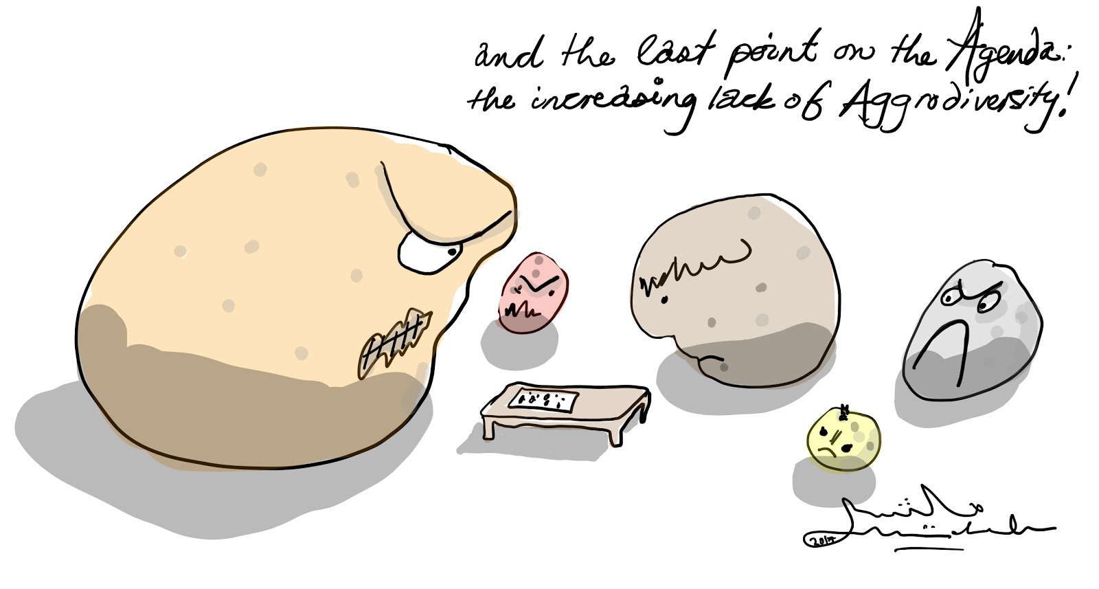 Potatoes are aggravated by the lack of biodiversity