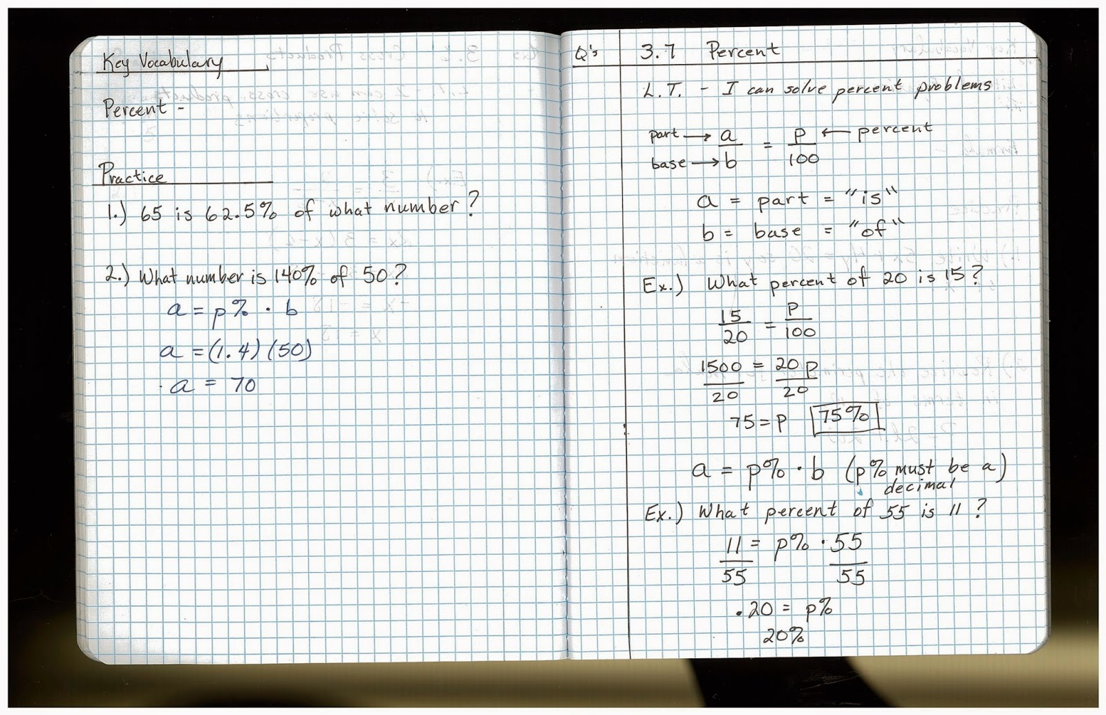 Heidemann 8th Grade Math Algebra Notes And Hw For Tuesday 9 9