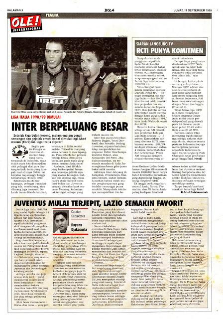 LEGA CALCIO SERIE A 1998/99 RONALDO AND ROBERTO BAGGIO INTER