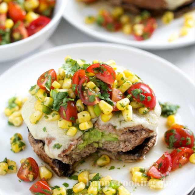 Mexican Turkey Burgers with Fresh Corn Salsa