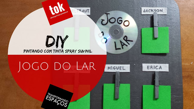 DIY Decor | Transformando o painel do Jogo do Lar com tinta spray