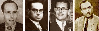 Los ajedrecistas Ribera, Vilardebó, Medina y Lladó