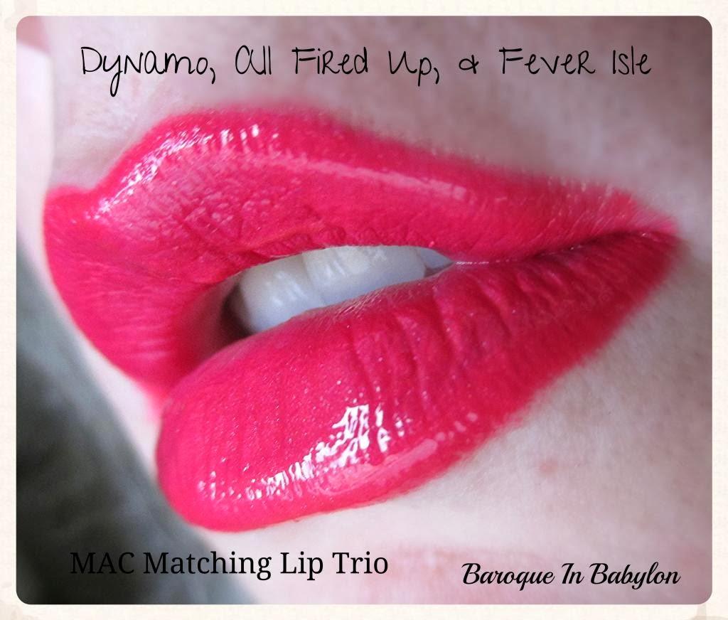 Baroque In Babylon: Matching MAC Lip Trios: Liner, Lipstick