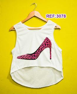 Regata Cropped Tshirt Feminina Atacado