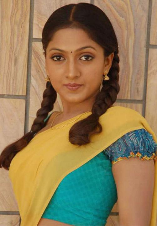 Sheela in half saree