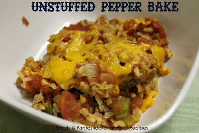Morsels of Life - Unstuffed Pepper Bake - All the deliciousness of a stuffed pepper without all the hassle - with turkey, instead of beef, for a healthier alternative.