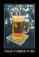 cumplaños cerveza desmotivacion