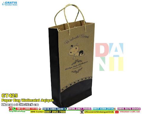 Paper Bag Walimatul Aqiqah