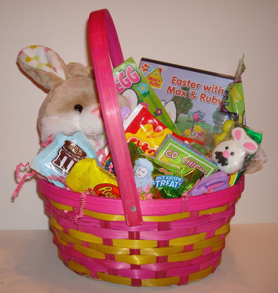 Oryans village candy blog easter baskets for kids this kids easter basket is filled with toys candy plus an easter dvd our bunny basket is sure to delight any child you will find not only the cutest negle Choice Image
