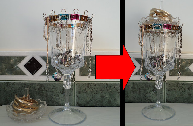 wine glass necklace holder