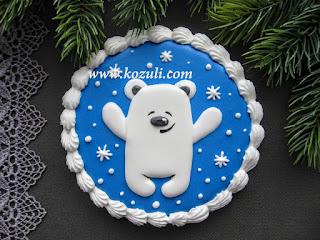 Имбирное печенье новогоднее Медвежонок