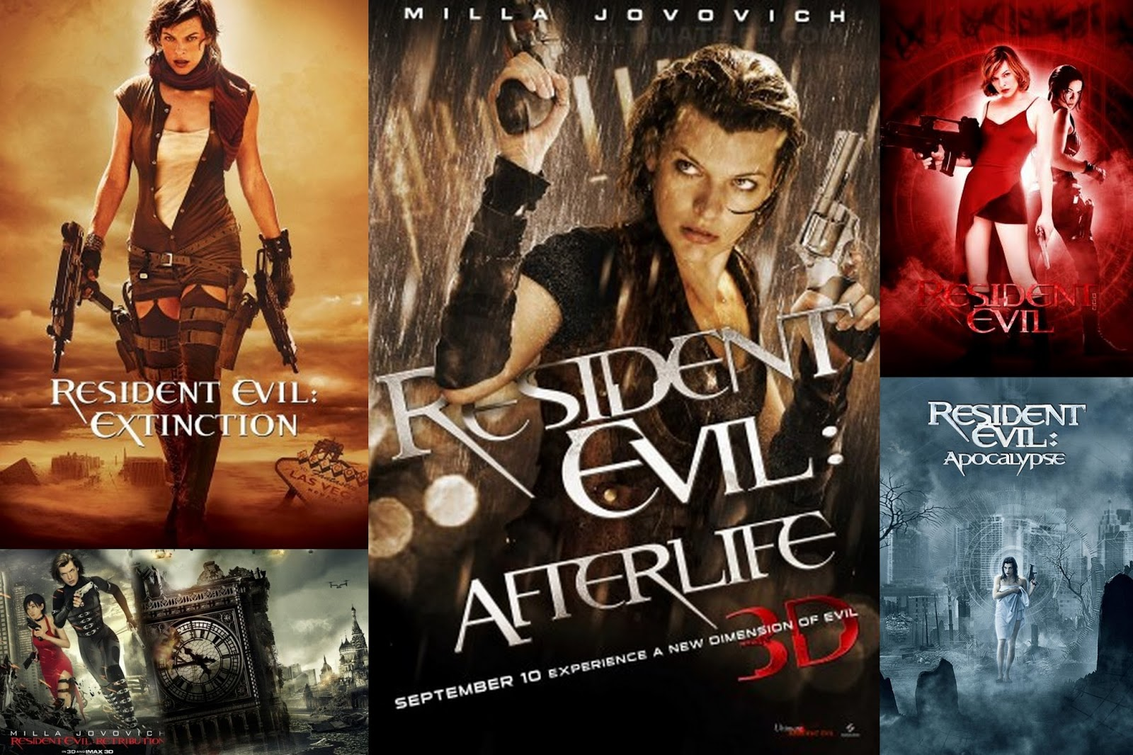 resident evil movies order