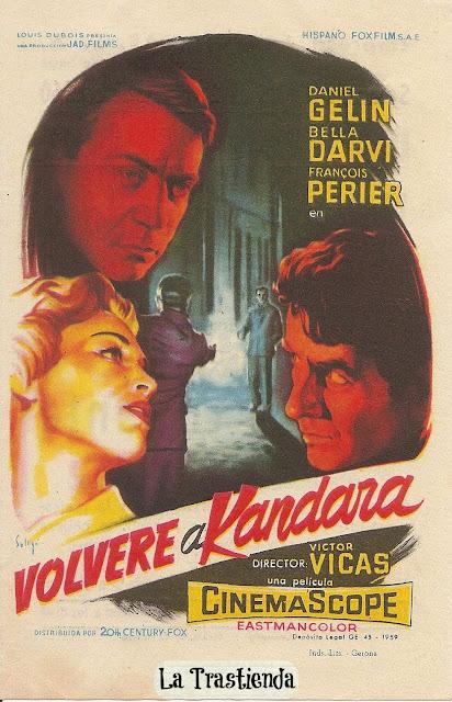 Programa de Cine - Volveré a Kandara - Daniel Gelin - Bella Darvi