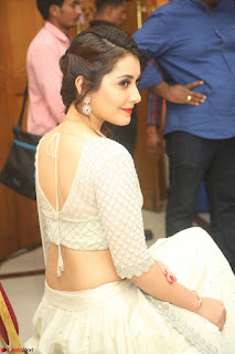 Raashi Khanan looks stunning in Crop Top Deep neck Choli Ghagra Transparent Chunni WOW ~  Exclusive Celebrities Galleries 017