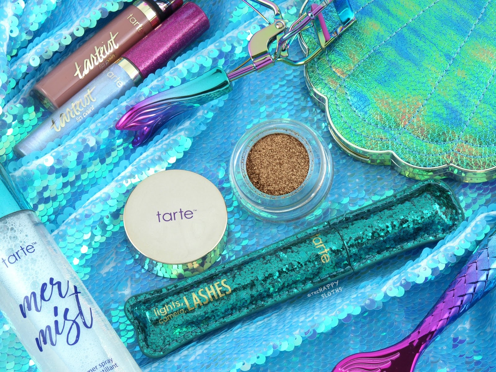 "Tarte Mermaid Collection | Limited Edition Lights, Camera, Lashes Mascara & Chrome Paint Shadow Pot in ""Beach Bae"": Review & Swatches"
